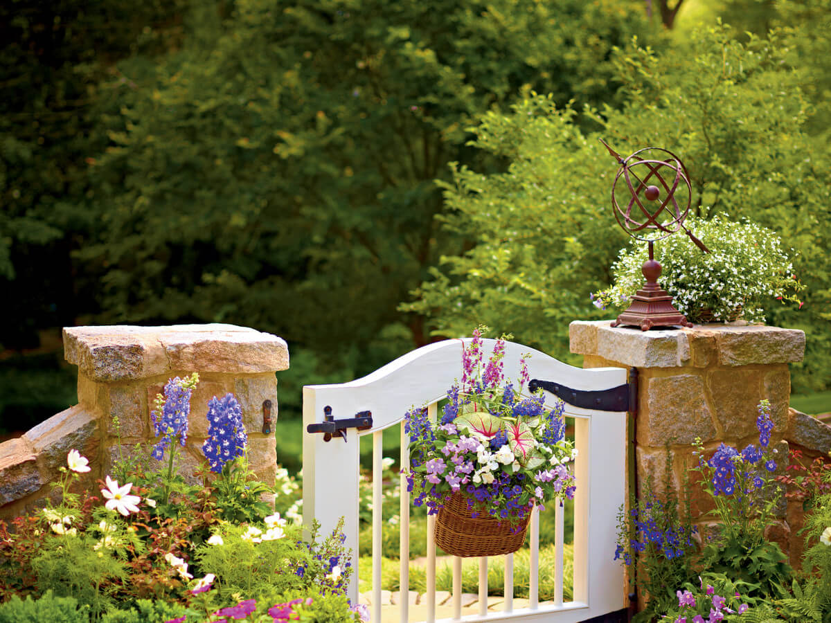 Hanging Baskets on the Gate