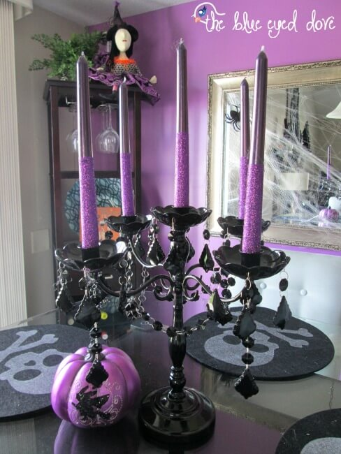Candles Can Offer Halloween Glitz | DIY Indoor Halloween Decorating Ideas
