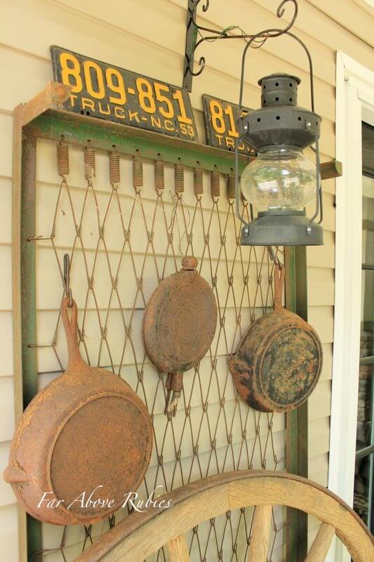 Miner Inspired Exterior Accent Wall   Vintage Porch Decor Ideas