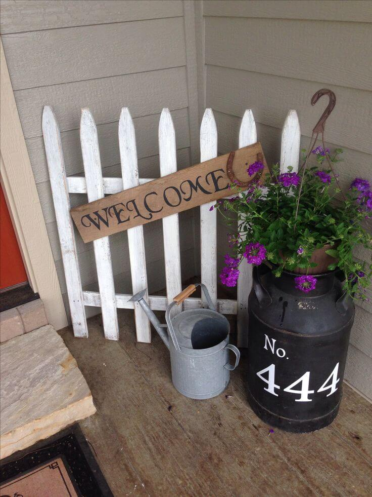 A White Picket Fence Welcome   Vintage Porch Decor Ideas