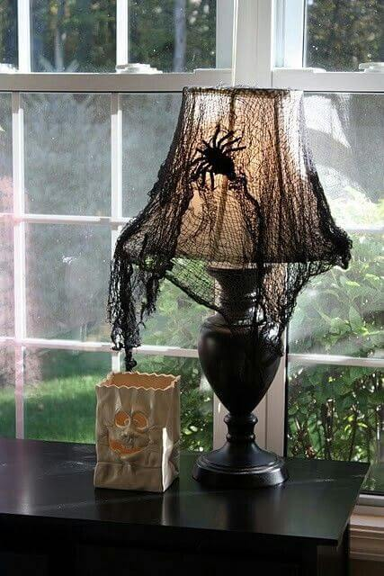 Scrim Makes Lamps Unique | DIY Indoor Halloween Decorating Ideas
