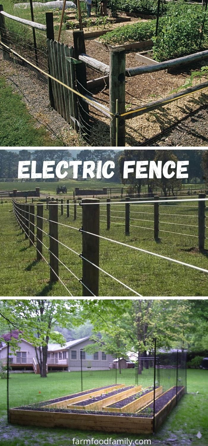 Electric fence ideas for backyard