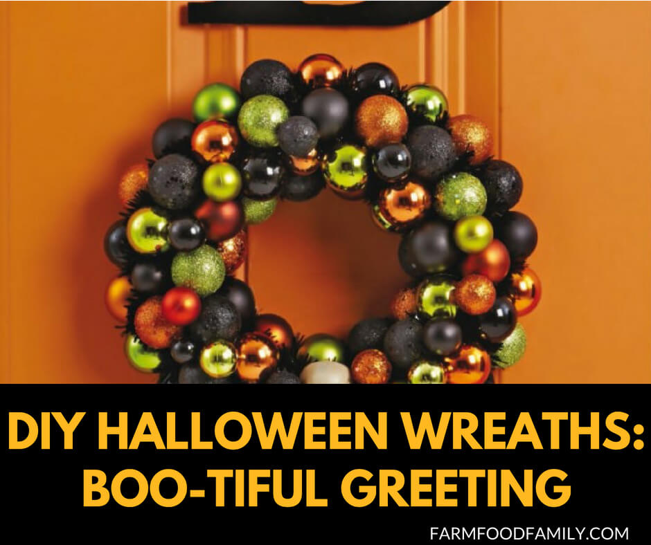 DIY Door Halloween Wreaths: Boo-tiful Greating