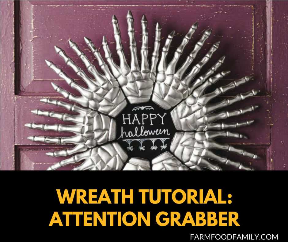DIY Front Door Halloween Wreaths Tutorial: Attention Grabber