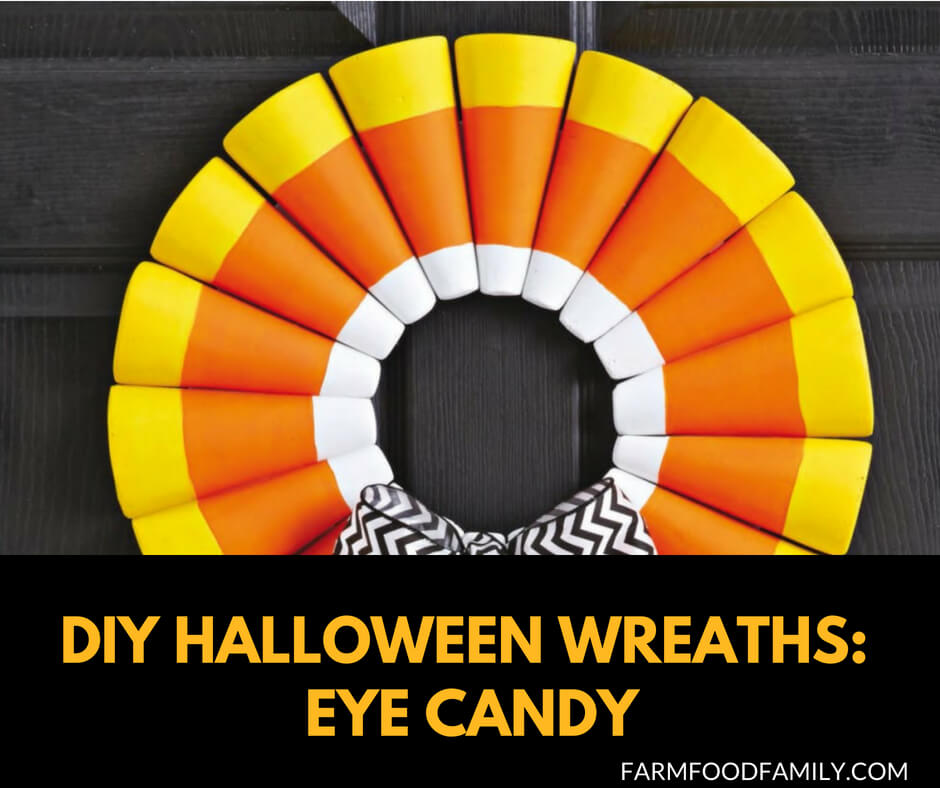 DIY Front Door Halloween Wreath Tutorial: Eye Candy