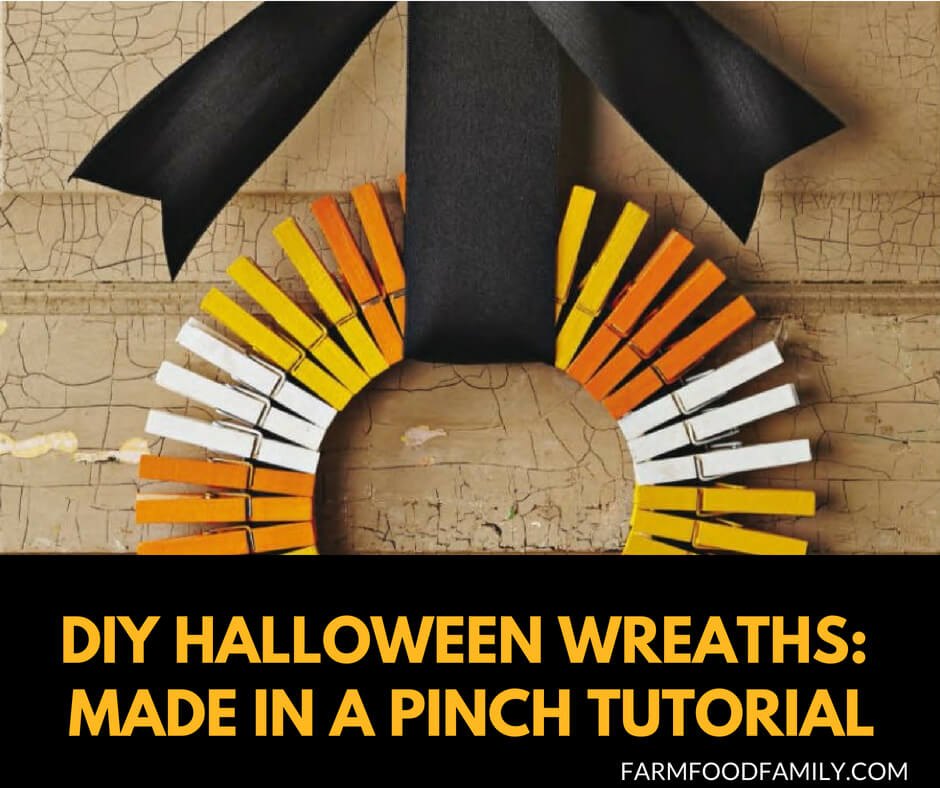 DIY Front Door Halloween Wreaths Tutorial: Made in a pinch