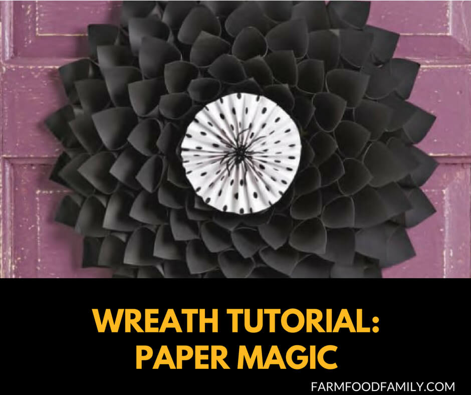 DIY Front Door Halloween Wreaths: Paper Magic tutorial