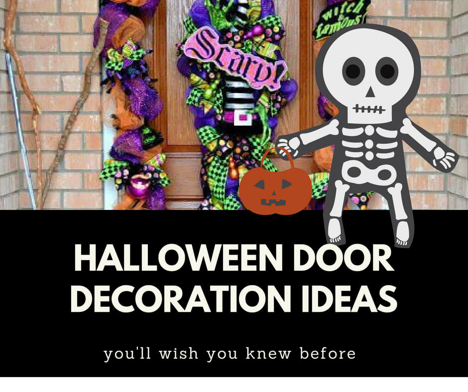 63+ Halloween Front Door Decoration Ideas