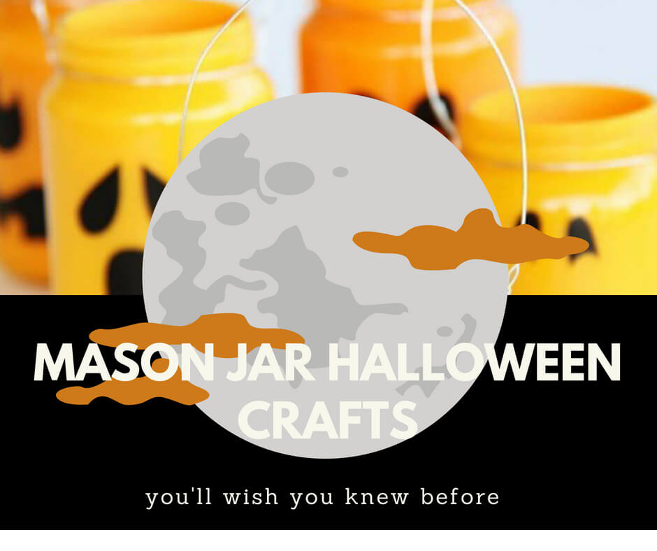 35+ DIY Mason Jar Halloween Craft Ideas
