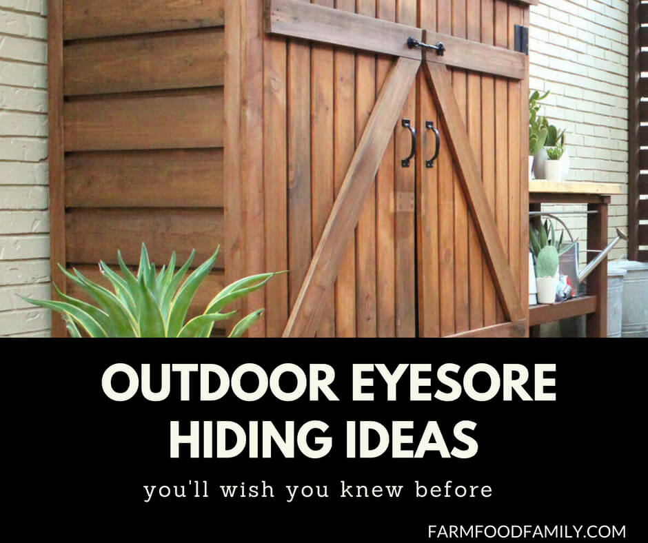 70 Awesomely Clever Ideas For Outdoor Kitchen Designs: 23+ Awesome DIY Outdoor Eyesore Hiding Ideas To Beautify