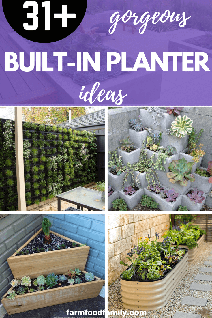 31+ Built-in planter box ideas for your outdoor living spaces