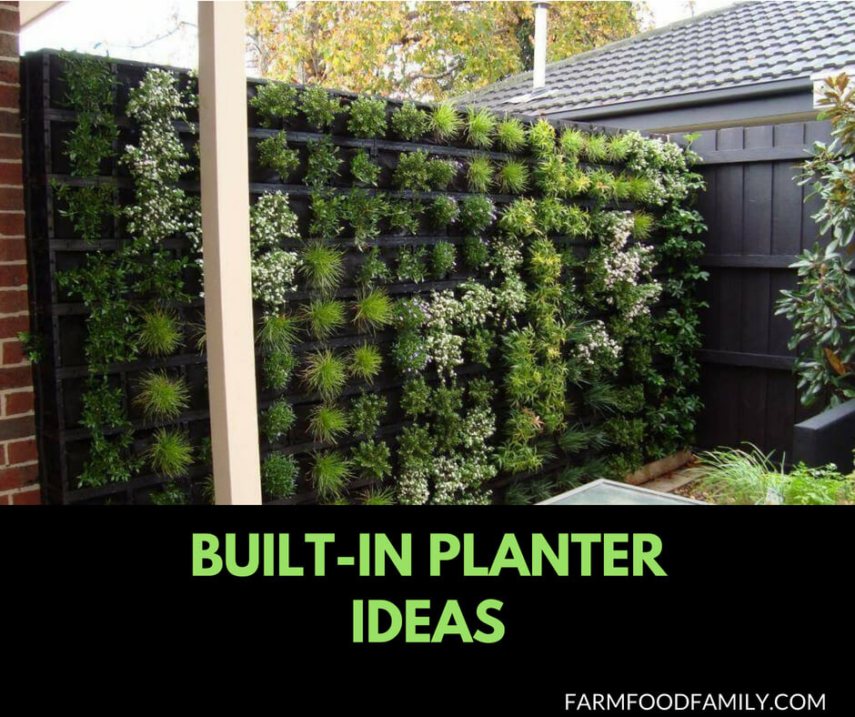 31+ Gorgeous Built-in Planter Box Ideas