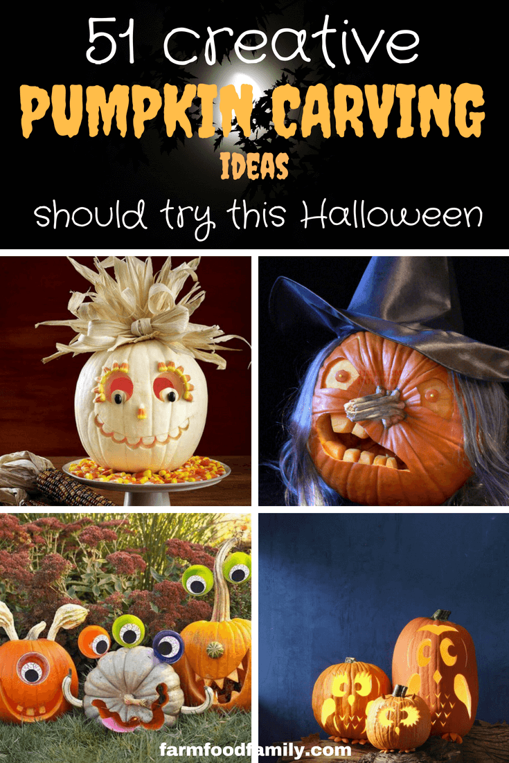 Check out 51 creative Pumpkin carving ideas that you should try this Halloween