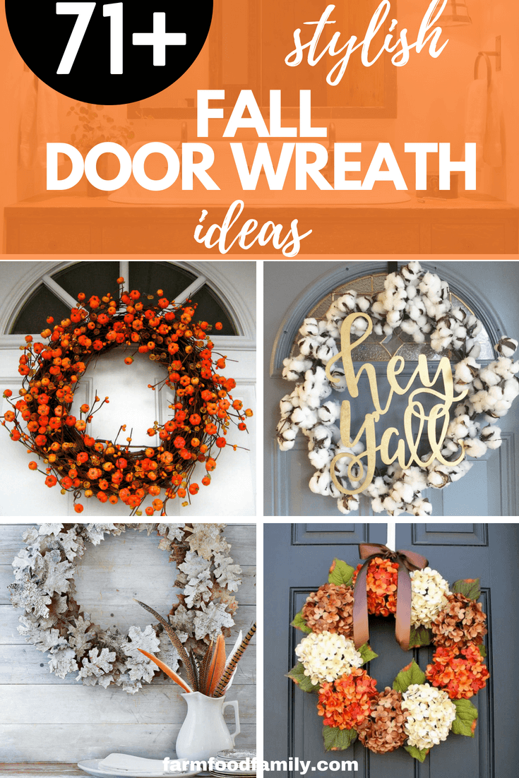 71+ awesome DIY Fall Door Wreath Ideas for your house