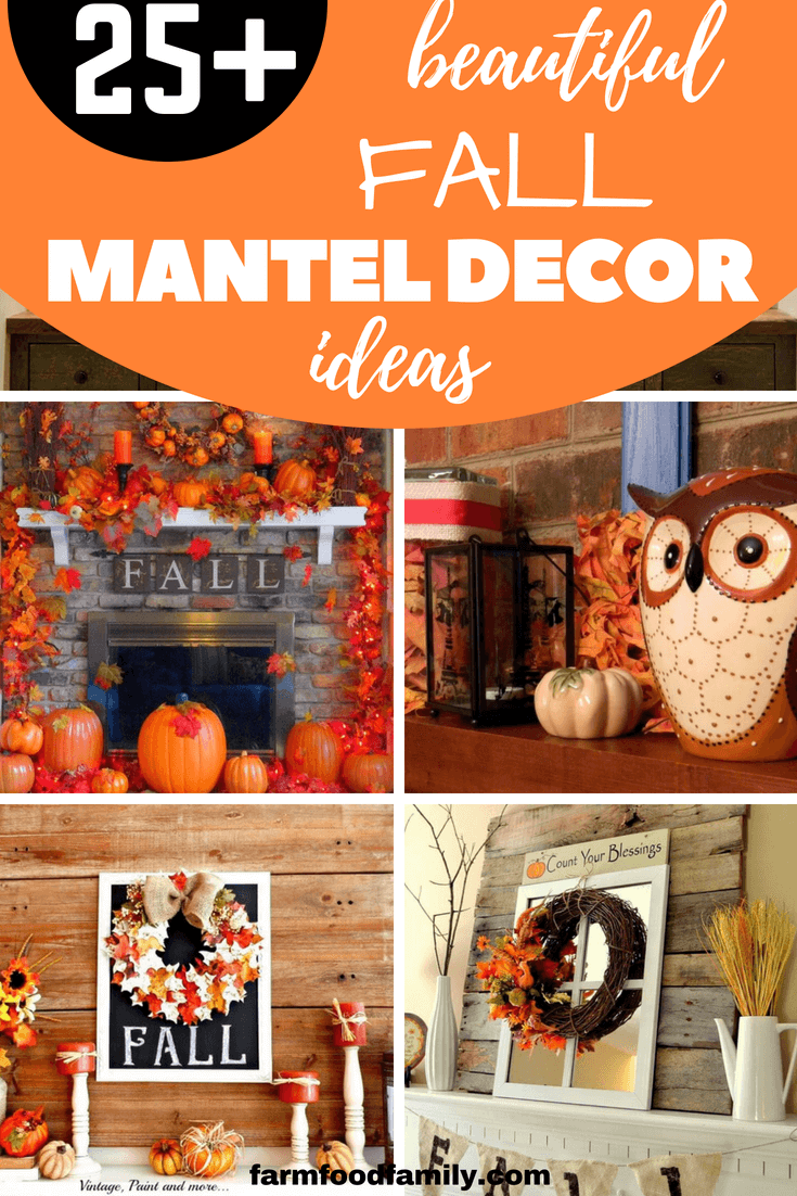 25+ DIY Fall Mantel Decorating Ideas for Everyday