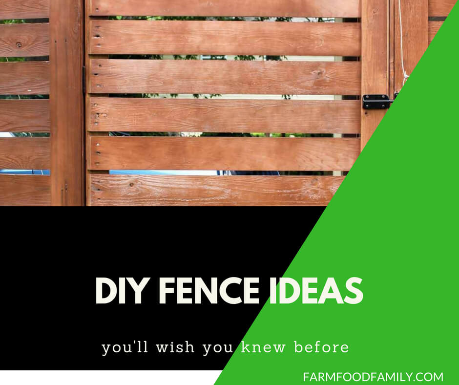 25 Creative Diy Home Decor Ideas You Should Try: 26+ Cheap And Easy DIY Fence Ideas For Your Backyard, Or