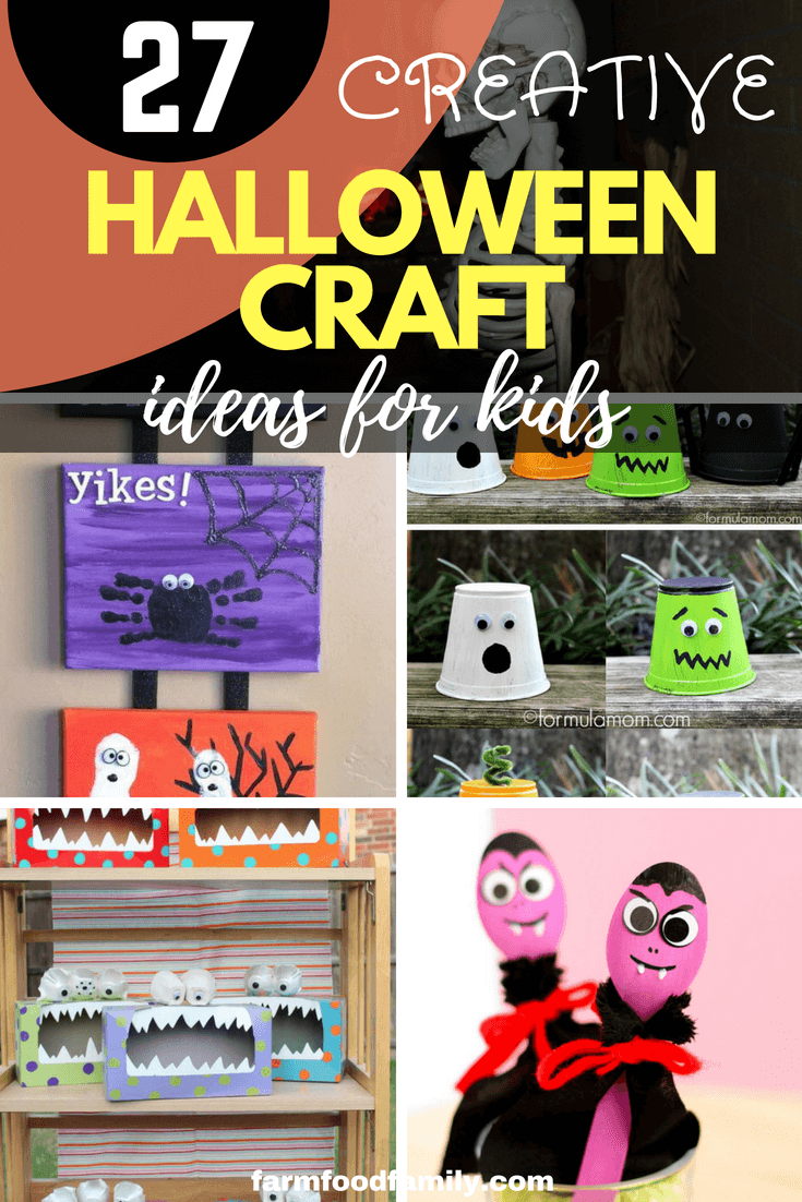 27 fun and quick DIY Halloween Craft Ideas For Kids and Toddlers