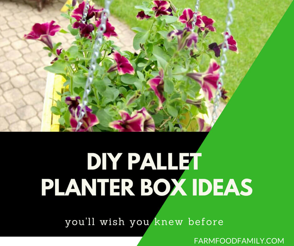 35 DIY Pallet and Wood Planter Box Ideas For Your Garden