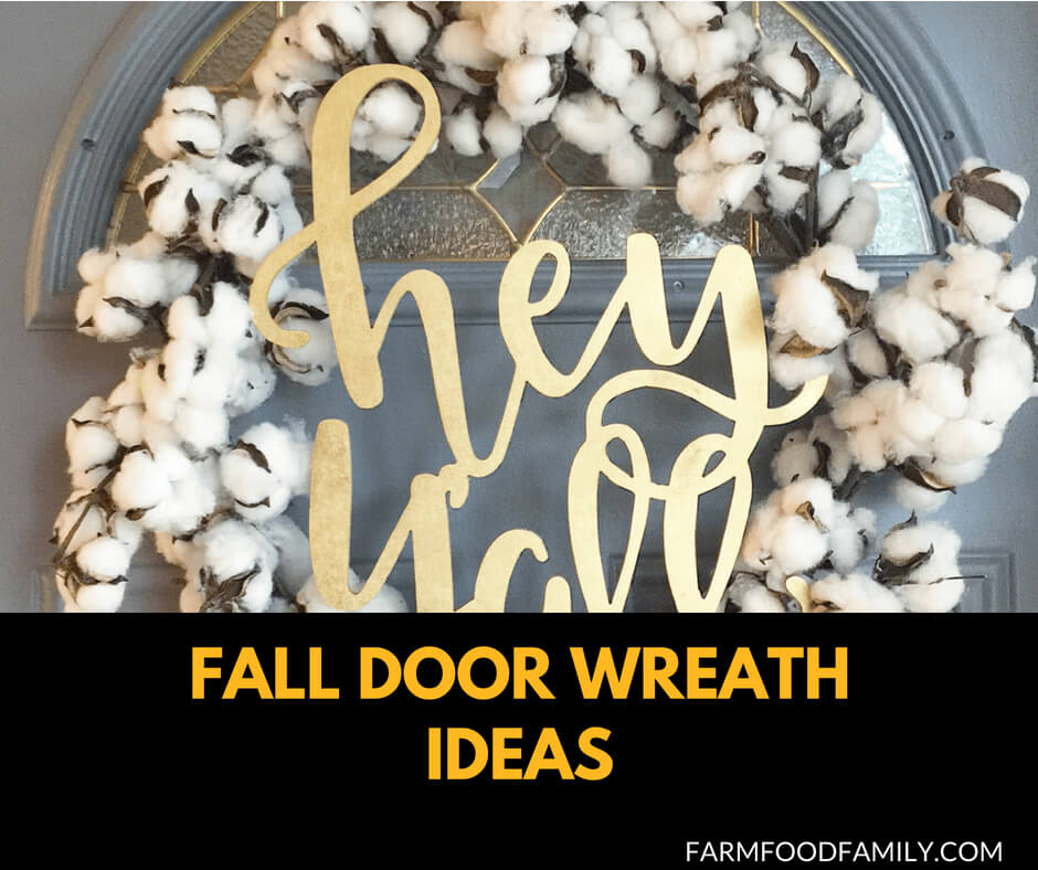 71 DIY Fall Door Wreath Ideas for your house