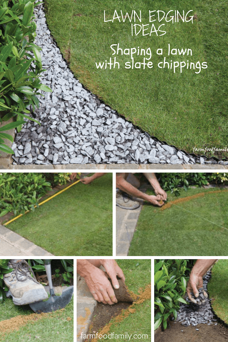 Lawn Edging Ideas: How to shape a lawn with slate chippings