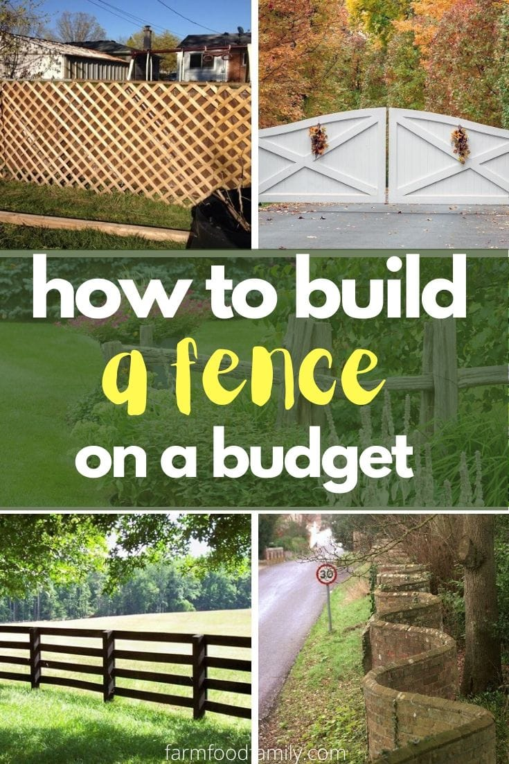 How to build a fence with low budget