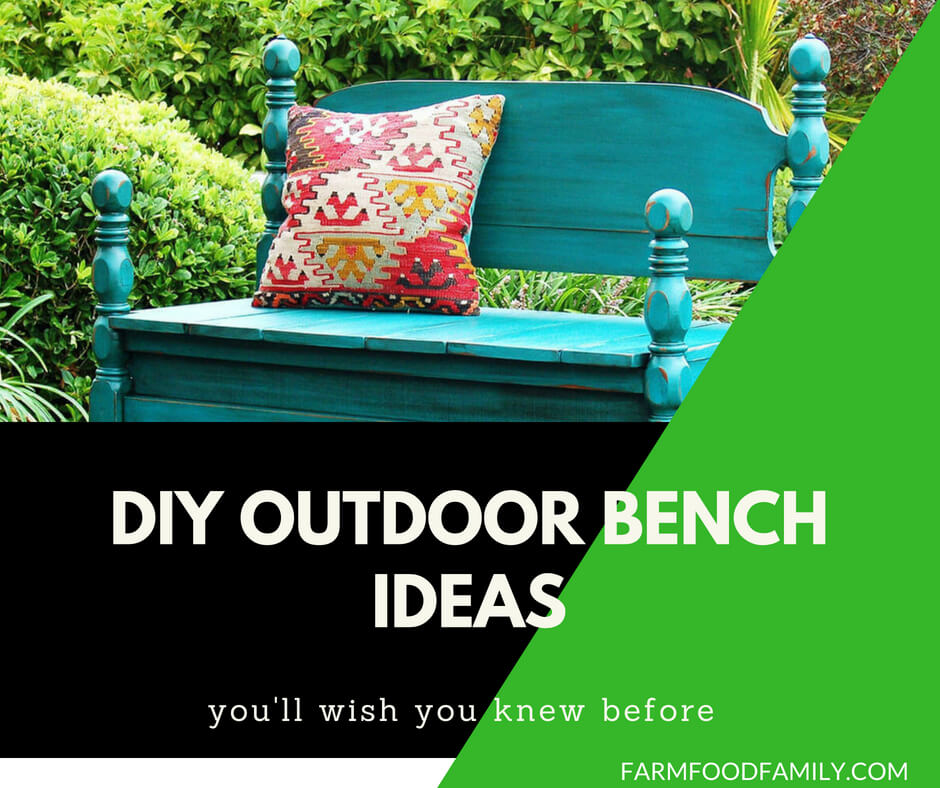 25+ Simple & Easy DIY Outdoor Wooden Bench Ideas
