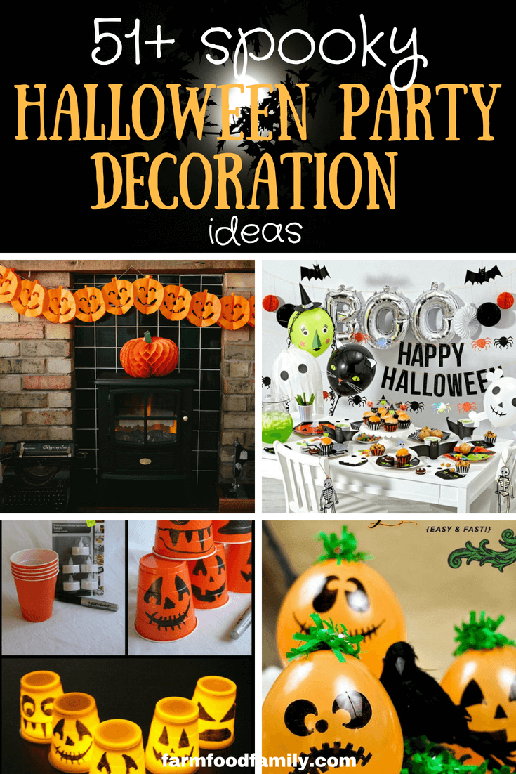51+ Unique & Spooky Halloween Party Decoration Ideas