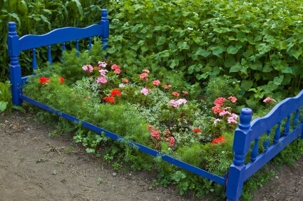 Planting Flower In An Old Bed Frame | Low-Budget DIY Garden Pots and Containers