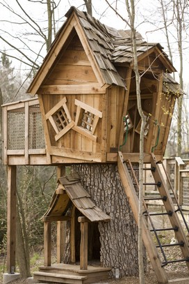 Tree Stump House | Tree Stump Decorating Ideas | How To Decorate a Tree Stump In Landscape