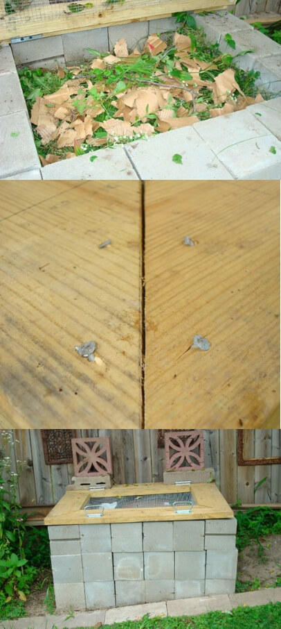 Concrete Blocks Compost Bin | Easy Compost Bins You Can DIY On Very Low Budget - FarmFoodFamily.com