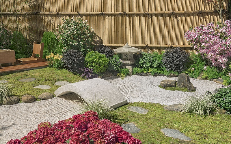Japanese Zen Garden With A Bridge | Zen Garden Designs & Ideas