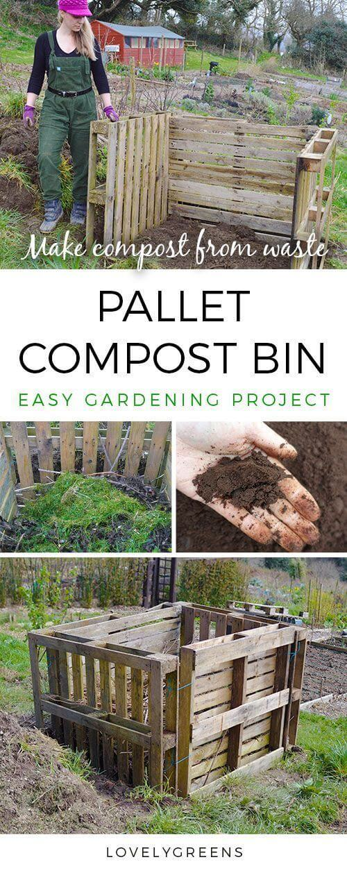 Pallet Compost Bin | Easy Compost Bins You Can DIY On Very Low Budget - FarmFoodFamily.com