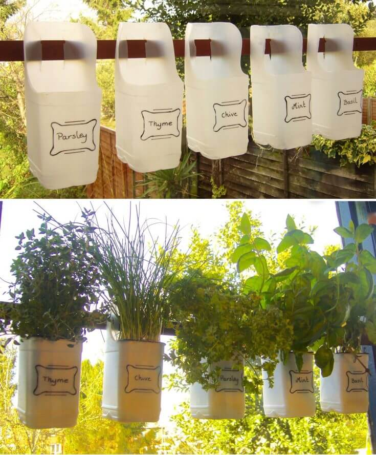 Recycled Milk Bottle Planter | Low-Budget DIY Garden Pots and Containers