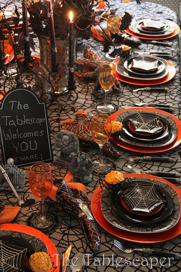 The Tablescaper Welcomes You | Fun & Spooky Halloween Table Decoration Ideas - FarmFoodFamily.com