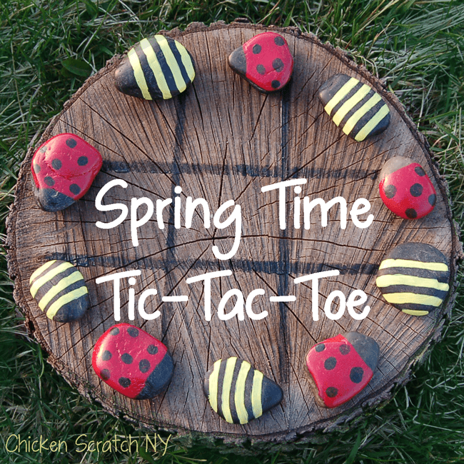 Spring Time Tic-Tac-Toe | Tree Stump Decorating Ideas | How To Decorate a Tree Stump In Landscape