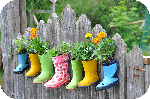 Planting Flower Boots | Low-Budget DIY Garden Pots and Containers