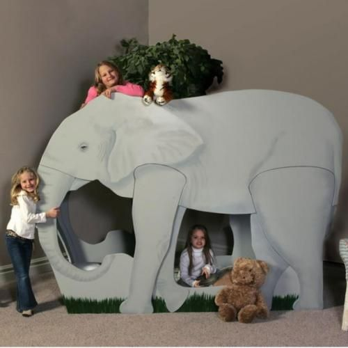 Elephant bed | Cool Zoo Themed Bedroom Ideas For Kids or Nursery