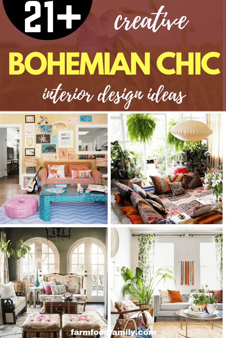 21+ Stylish Bohemian Chic Interior Design Ideas for Living Room and Bedroom