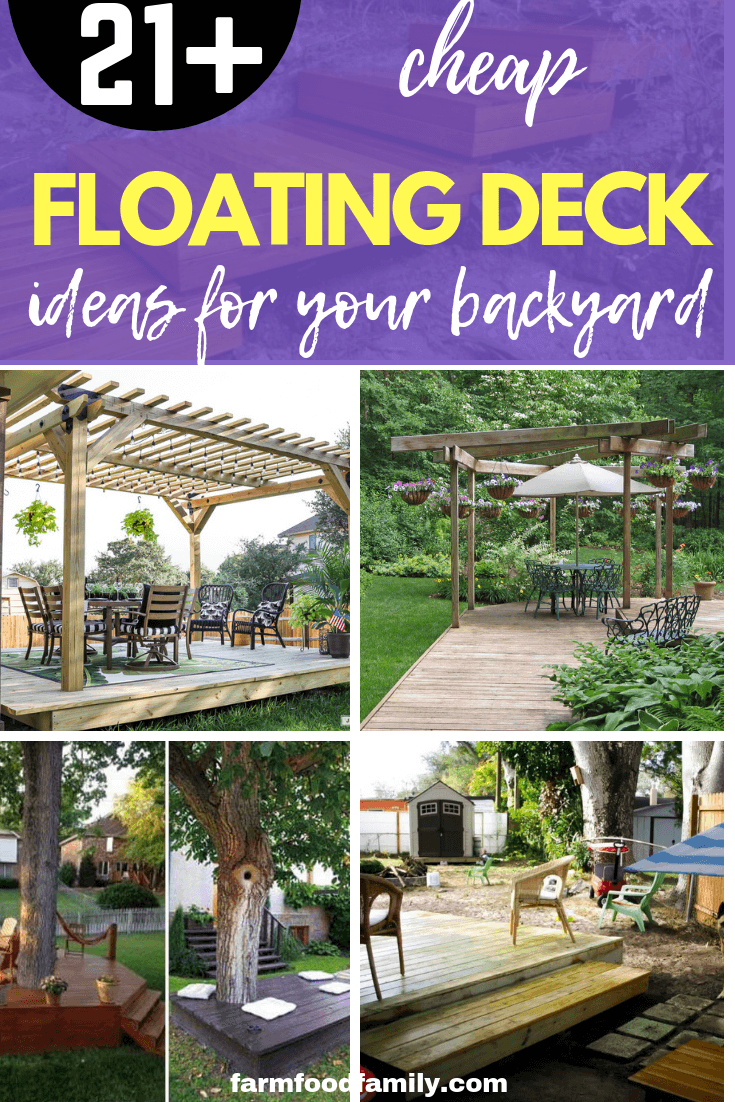 21 simple and cheap floating deck ideas for your garden