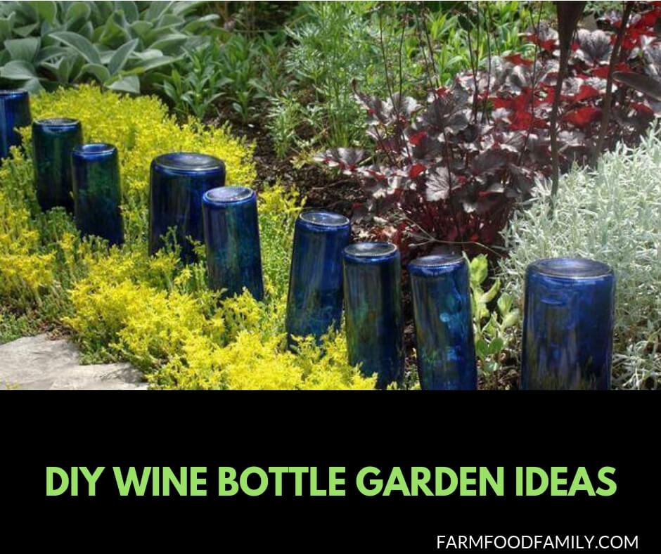 25+ Wine Bottle Crafts Ideas for your garden
