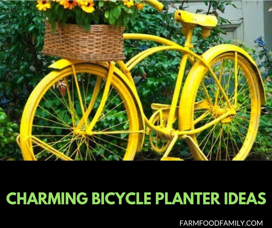 35 Charming Bicycle Planter Ideas For Backyard