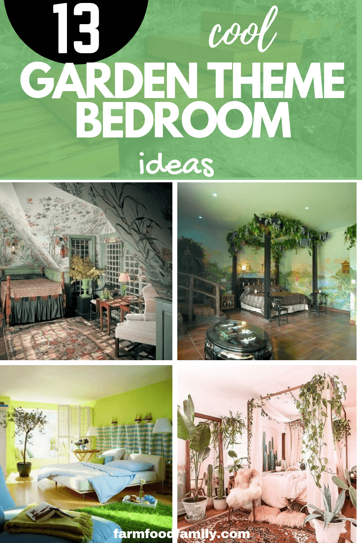 How to decorate a garden theme bedroom with 13 ideas