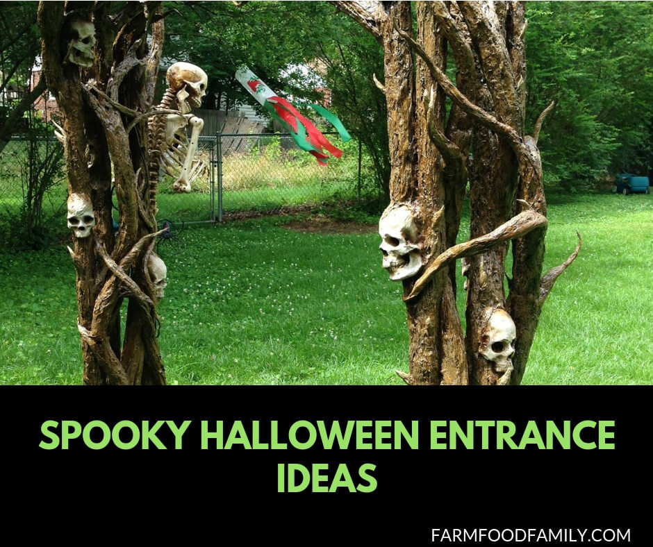 21+ Spooky Halloween Outdoor Decorating Ideas For Entrance