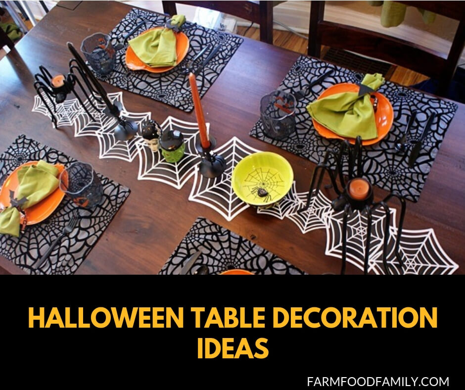 23+ Fun \u0026 Spooky Halloween Table Decoration Ideas for 2019