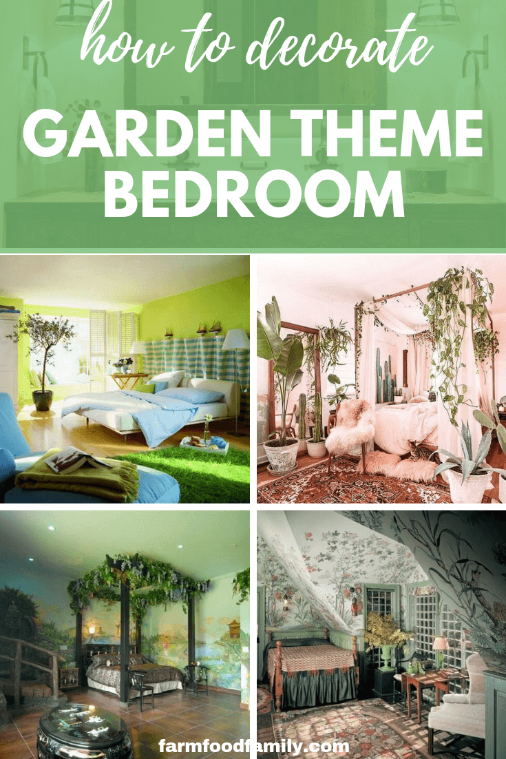 How to decorate a garden theme bedroom