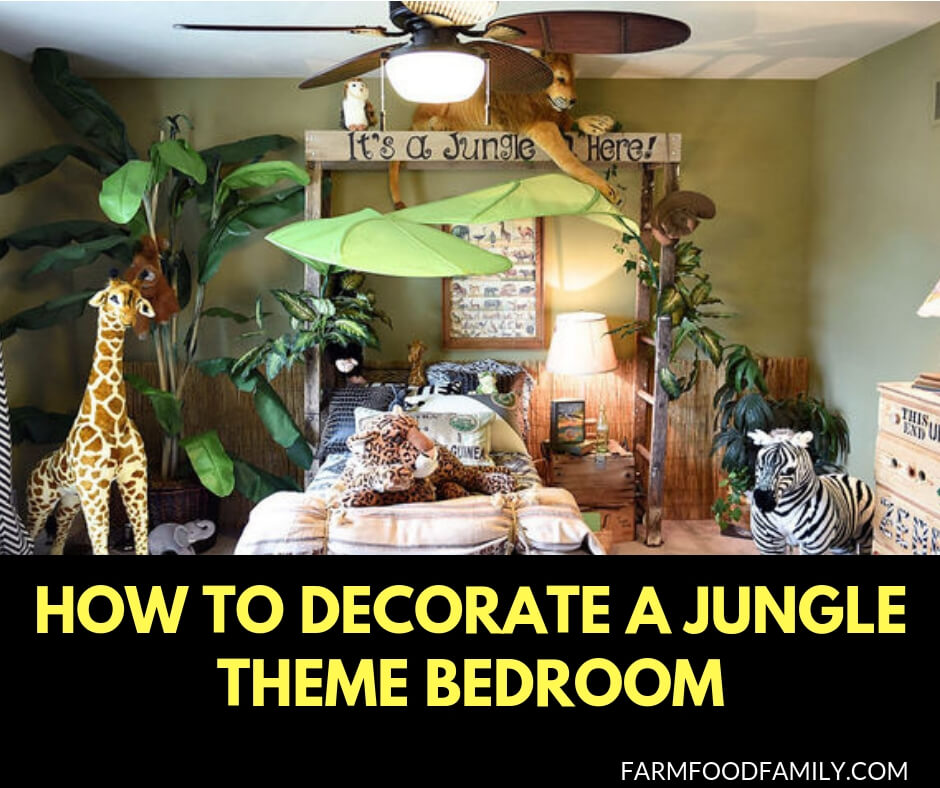 How to decorate a jungle theme bedroom