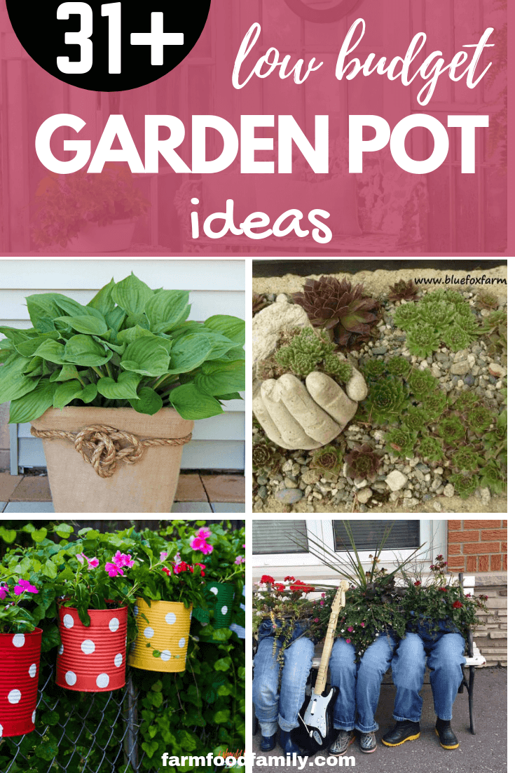 31 low budget diy garden pots and containers