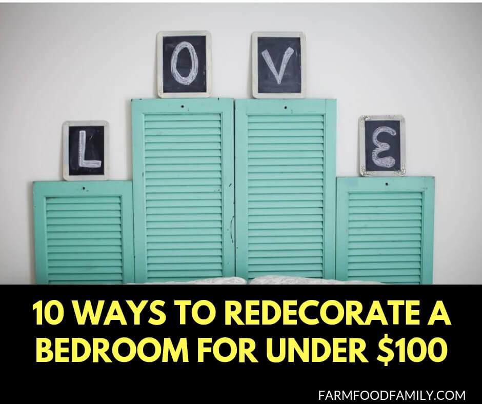 10 ways to redecorate a bedroom for under $100