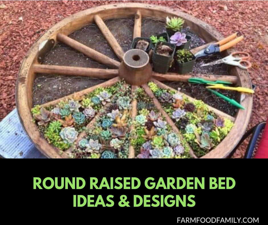 20 Raised Bed Garden Designs And Beautiful Backyard: 18 Beautiful Round Raised Garden Bed Ideas & Designs For 2019