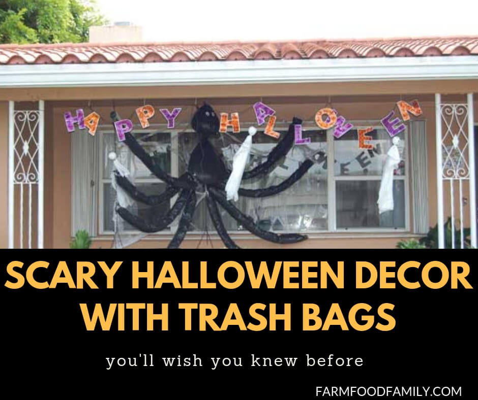 25+ Scary Halloween Decorations With Trash Bags